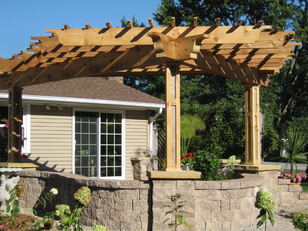 A bell shaped pergola in southwest fort wayne the icing for Southwest pergola