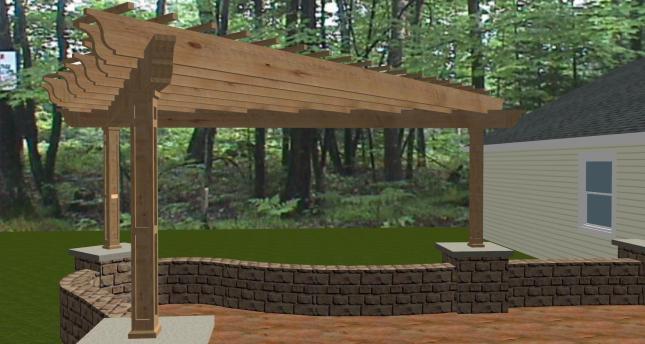 Wood pergola construction plans plans free download for Design your own pergola