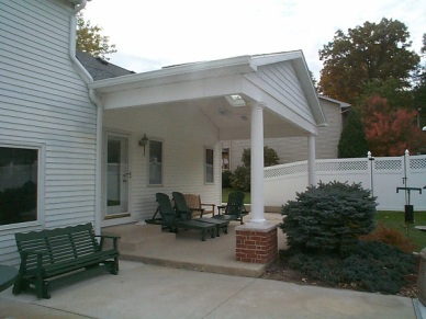 Fort Wayne open porch Archadeck