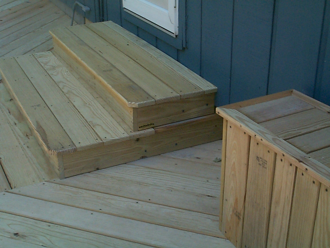 Will your deck stand the test of time archadeck of fort for Box steps deck