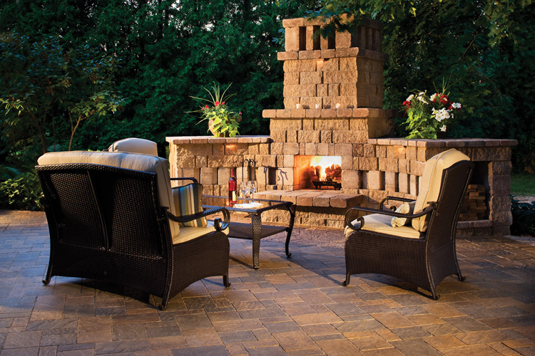 Patio And Fireplace Hardscape