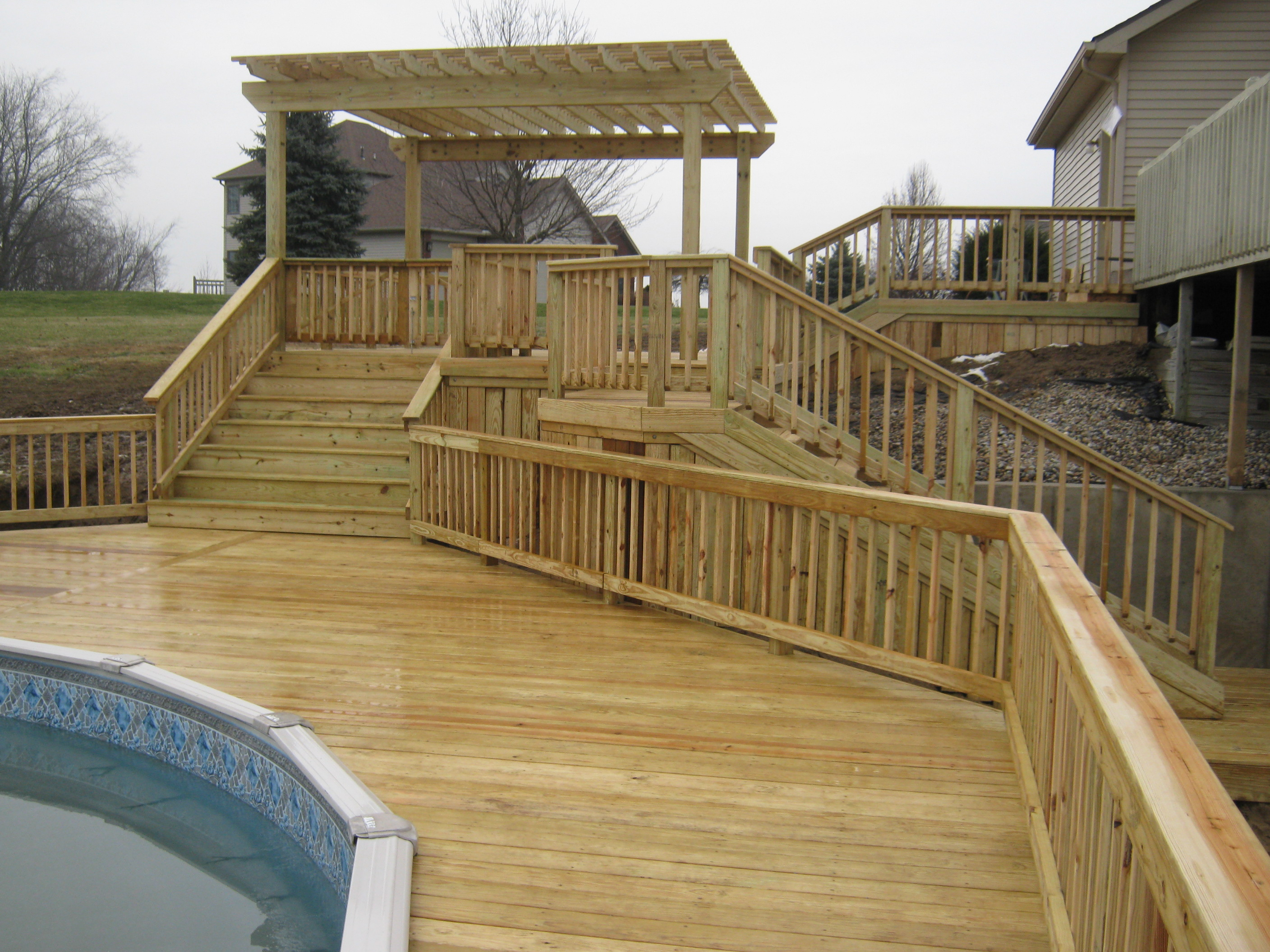Columbia City House Now Connected To Pool With New Decks Archadeck Of Fort