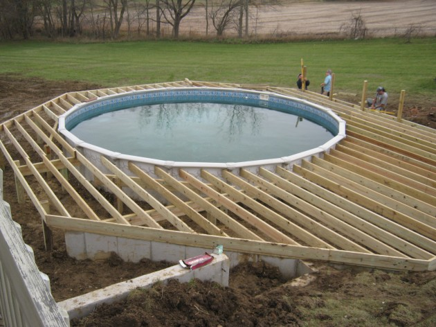 how to build an above ground pool deck plans free download