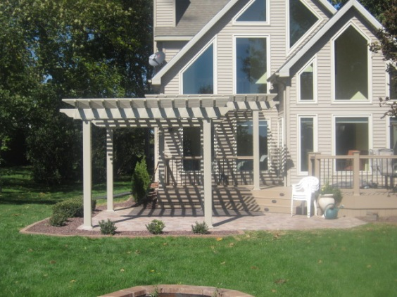 Lagrange Lake home with pergola patio by Archadeck