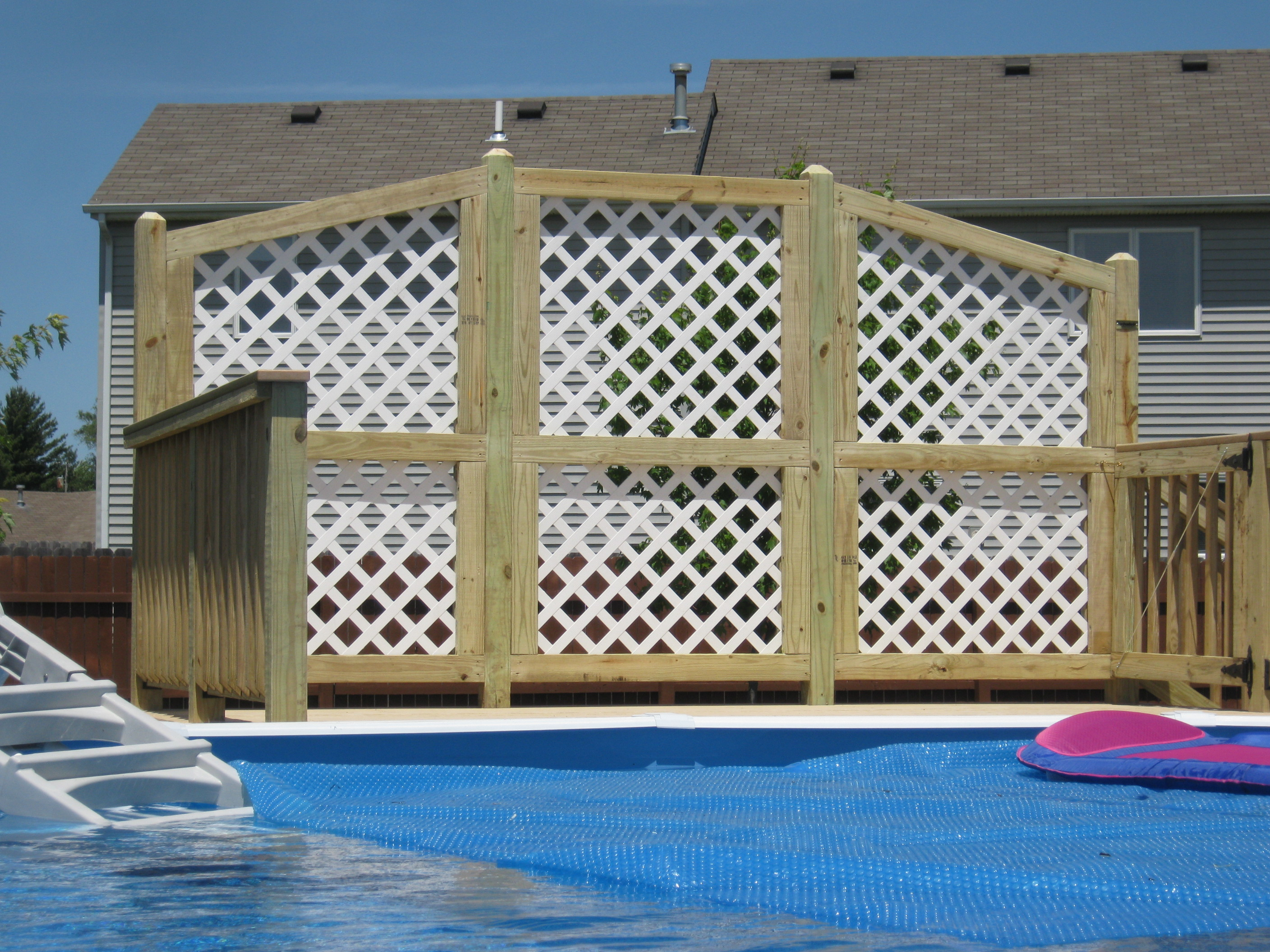 Have archadeck of ft wayne build your pool deck Above ground pool privacy