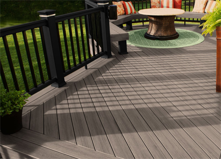 In the low maintenance deck materials landscape the for Low maintenance decking