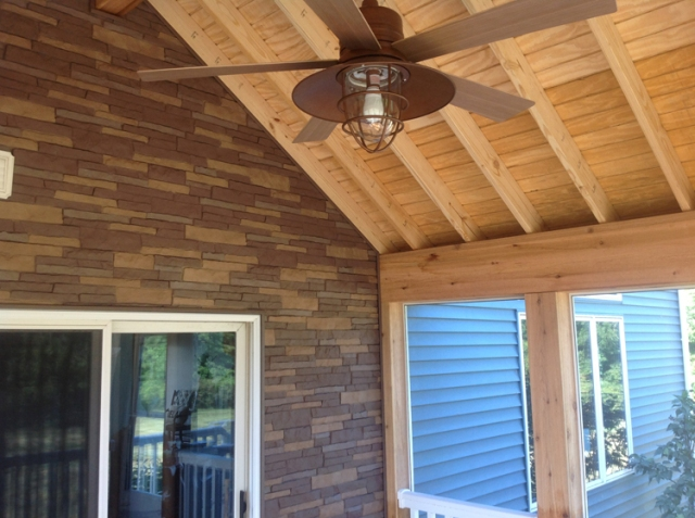 mesmerizing living room addition gable roof | A brand new gable roof screen porch for these Auburn IN ...
