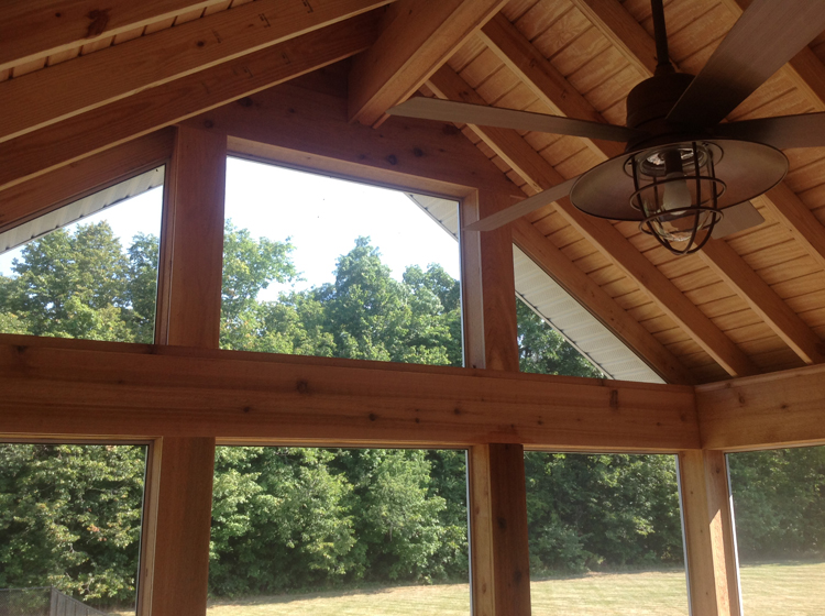 A brand new gable roof screen porch for these Auburn IN homeowners | Archadeck of Fort Wayne ...