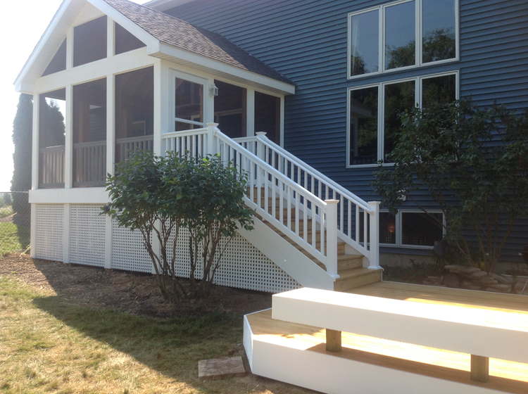 A brand new gable roof screen porch for these auburn in for Gable screened porch