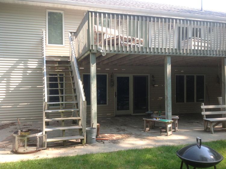 A Brand New Ft Wayne Area Second Story Deck With Pergola And Lower Level Screened Area