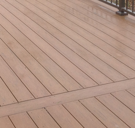 A brand new ft wayne area second story deck with pergola for Balcony decking boards