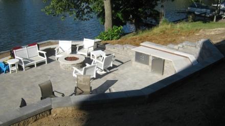 Terraced paver patio Sylvan Lake lr
