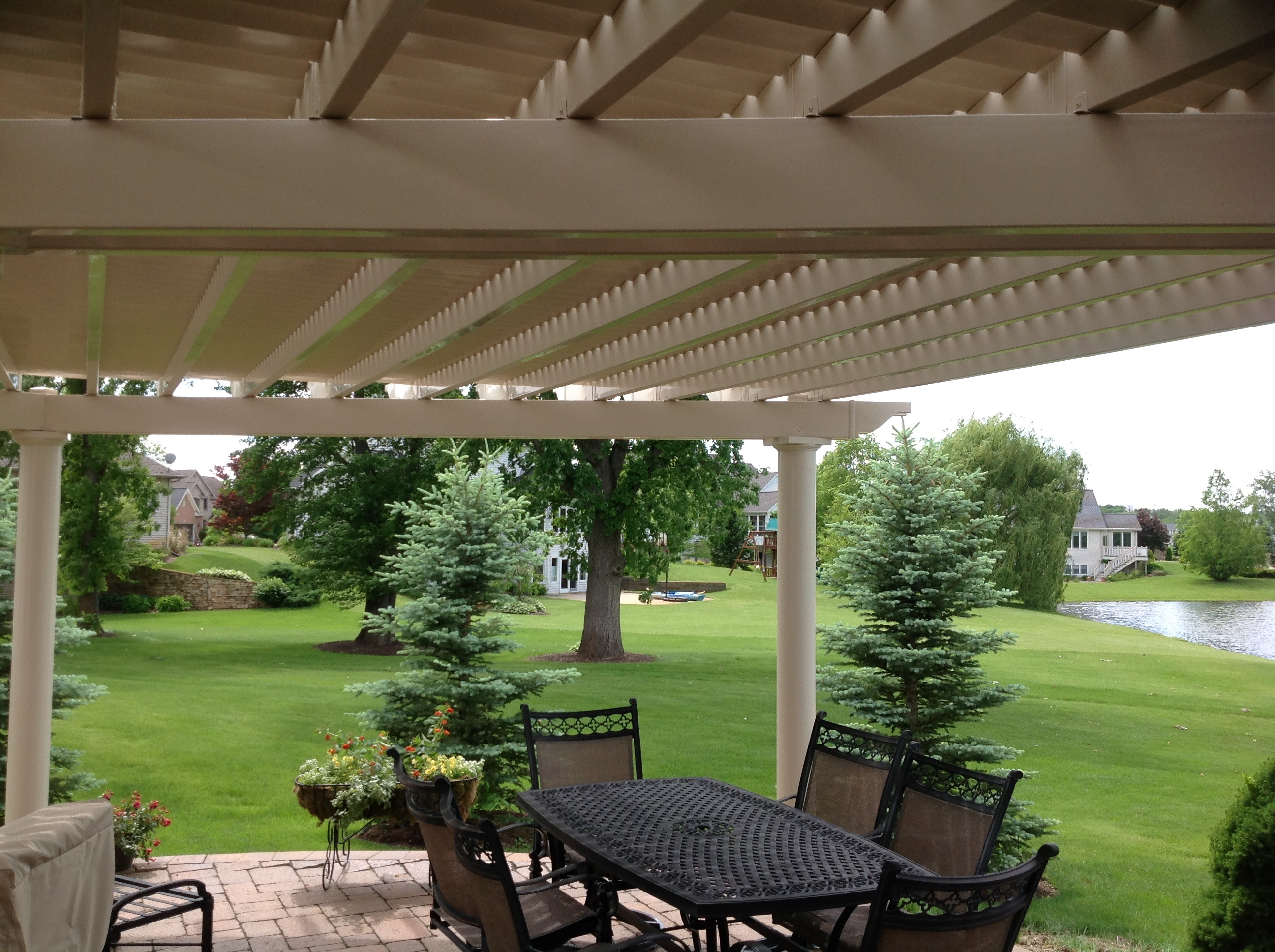 a fort wayne pergola is the perfect partial shade structure for