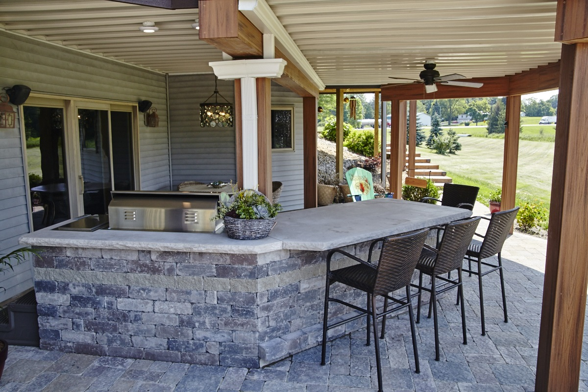 This Churubusco, IN, outdoor living combination is a dream ... on Living Room Deck id=23153