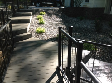 Fort Wayne TimberTech with Westbury Verticable Railing