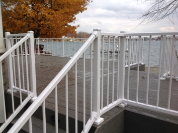 Deck built on Crooked Lake in Fort Wayne IN