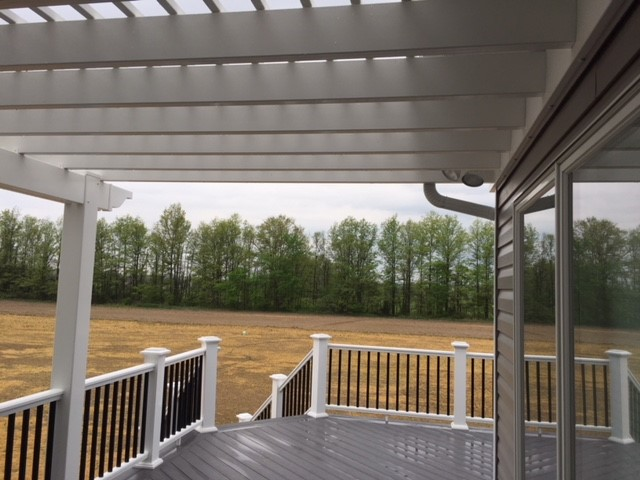 Composite Deck in Custom Home 04